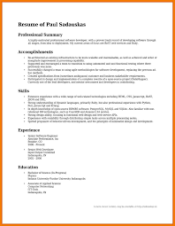 Summary Resume Examples Summary Of Accomplishments Examples For