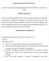 Sample Resume For Teachers Job 20 Simple Teacher Resume Templates Pdf Doc Free