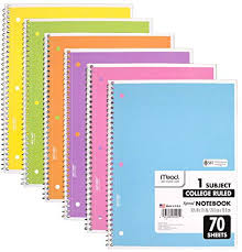 Amazoncom Mead Spiral Notebook 6 Pack Of 1 Subject College Ruled