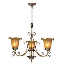springdale lighting er gold tulip 3 light antique bronze hanging pendant