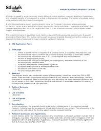 Research Paper Scientific Grant Proposal Template Example