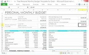Personal Monthly Budget Spreadsheet How To Make A Monthly Budget On Excel Thevidme Club