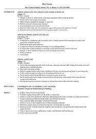 Press Assistant Resume Samples Velvet Jobs