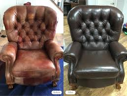 retro leather recliner chairs photo vintage port final postcard
