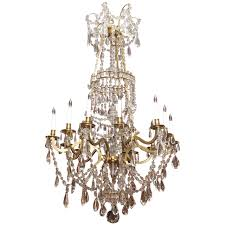 antique french grand size louis xvi bronze d ore and baccarat chandelier for