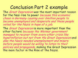 the national assignment ppt video online 26 conclusion part 2 example the great depression