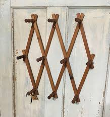 Expandable Wooden Coat Rack Large Vintage Wooden Accordion Wall Peg Rack Expandable Wooden Coat 19