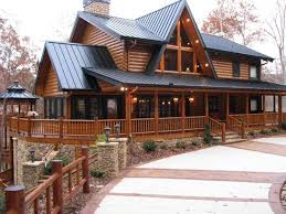 house plans with wrap around porch and walkout basement new log homes with wrap around porch