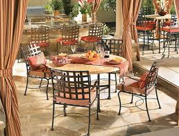 outdoor wrought iron furniture. Wrought Iron Dining Tables Outdoor Furniture G