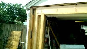 garage door framingGarage Overhead Door Framing Rebuild  YouTube