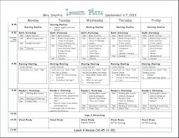 Lesson Plan Templates High School Common Core Weekly Lesson Plan Template