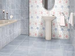 gray tile bathroom floor. Flores Blue Shiny Ceramic Floor Tile - 430 X 430mm Gray Bathroom
