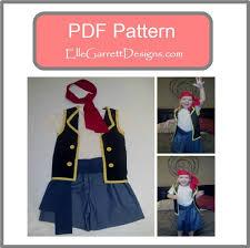Pirate Costume Pattern Unique PDF Pattern Pirate Costume Size 48 Month Kids 48 Etsy