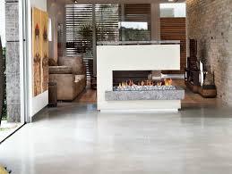 three sided fireplace gas