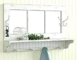 entryway mirror with hooks wall mirrors wall mirror with hooks wall mirror with shelf and hooks
