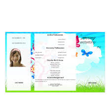 Funeral Program Template Microsoft Butterflies Youth Gatefold Program Funeral Pamphlets 21