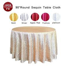 90 round tablecloths big promotion sequin tablecloth round embroidered glitter sequence party table cover for wedding