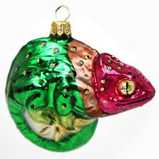 Details Zu Christbaumschmuck Glastier Glas Tier Chamäleon Schmuck Baumbehang Weihnachtsdeko