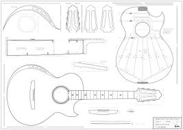 acoustic guitar cake template printable guitar cake template
