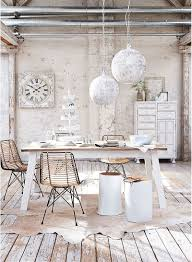 Dinning Rooms : Elegant Shabby Chic Dining Room With White Dining