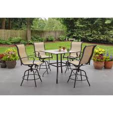 counter height patio furniture small. Wesley Creek 5 Piece Counter Height Dining Set Walmart From Patio Furniture, Furniture Small U