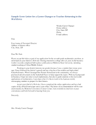 Sample Cover Letter Middle School Teaching Position
