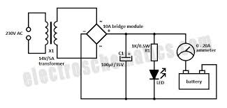 simple 12 volt charger circuit schematic of the simple 12 volt battery charger circuit