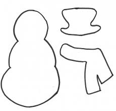 Template Of A Snowman How To Make A Snowman Gift Bag A Printable Pattern And