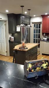 My Country Kitchen   Custom Cabinets In Coffee Bean, Custom Red, And Sand  With