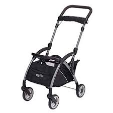 Graco Snugrider Elite Car Seat Carrier Lightweight Frame Stroller Travel Stroller Accepts Any Graco Infant Car Seat Black