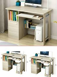 Image Workspace Ebay Details About Small Computer Desk W Shelves Cupboard Drawers For Home Office Workstation Uk