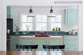 Blue Cabinets Kitchen Kitchen Cabinets Blue Green Quicuacom