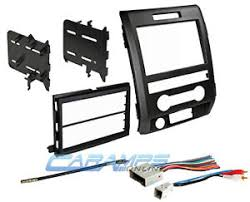 09 12 f 150 double din car stereo dash install trim kit bezel w image is loading 09 12 f 150 double din car stereo
