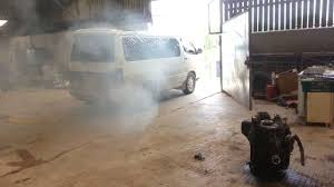 My hiace doing a burnout. 1kz-te