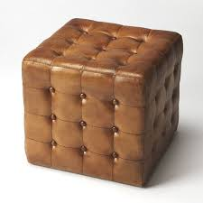 leather cube ottoman.  Ottoman Darby Home Co Archer Leather Cube Ottoman Inside O