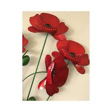 red poppies bunch metal wall art on bunch of poppies metal wall art with red poppies bunch metal wall art furniture point nz