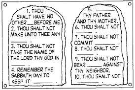 Ten Commandments Coloring Page Free Printable Ten Commandments