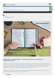 Employers Employees Check The Forms For Payrolls Deductions Nyc