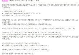 Ske48 研究生大場紗也加卒業のご報告 Akb48まとめらぶ