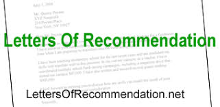 Letter Of Recommendation Mechanic Letters Of Recommendation