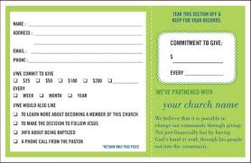 Pledge Card Templates Printable Free Card Templates