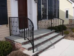 wooden handrails for garden steps gl railings on top of brick ideas houzz furniture how to