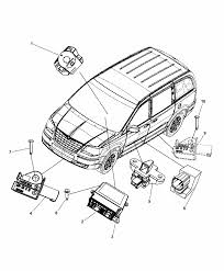 2014 chrysler town country air bag modules impact sensors clock spring