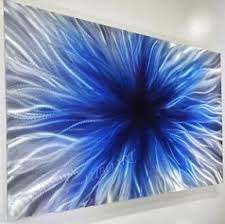 large abstract wall art on blue abstract metal wall art with blue metal wall art foter