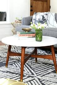 west elm reeve mid century coffee table vs living round marble review