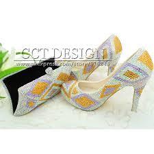 Light Yellow Wedding Shoes Buy Something Champagne Wedding Shoes Customized Sparkly