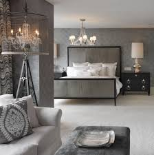 Philadelphia Gray Upholstered Bed Bedroom Transitional With Grey - Transitional bedroom