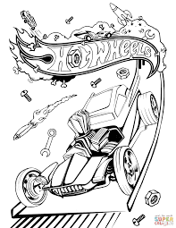 Small Picture Hot Wheels Hot Rod coloring page Free Printable Coloring Pages