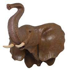 elephant head wall mount decor large