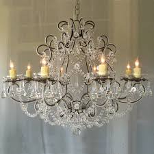 image of shabby chic chandelier ideas